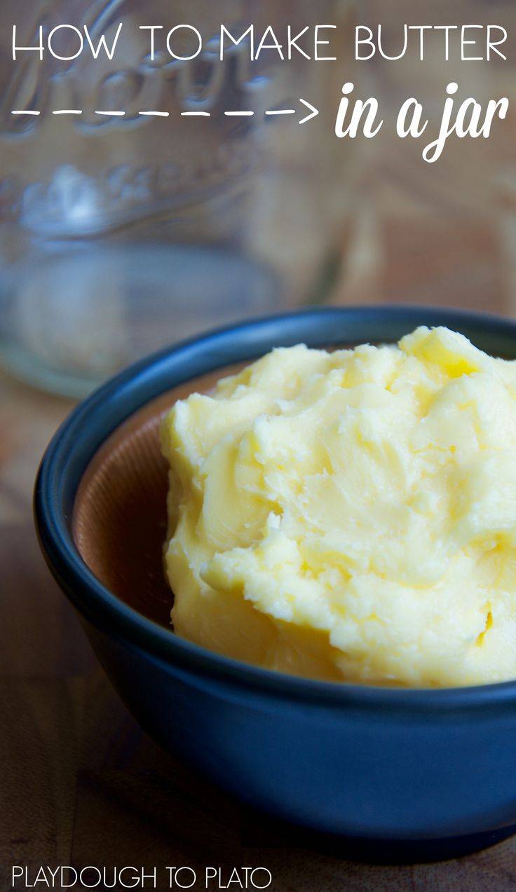 How to make butter in a jar. So fun!