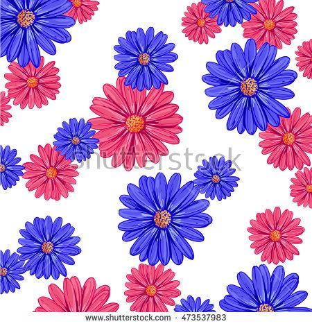 daisy floral pattern