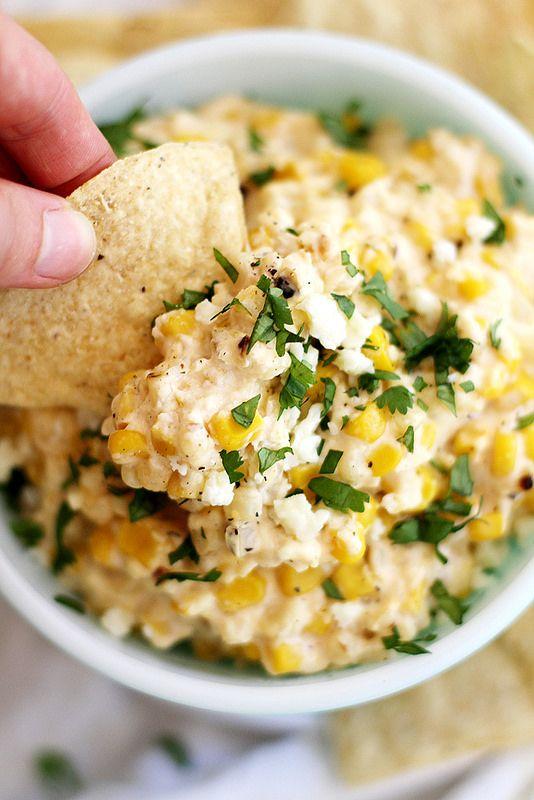 Slow Cooker Mexican Grilled Corn Dip | girlversusdough.com @girlversusdough