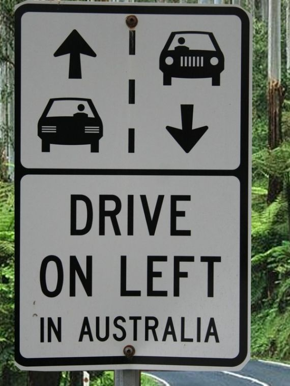 Drive on the Left in Australia!