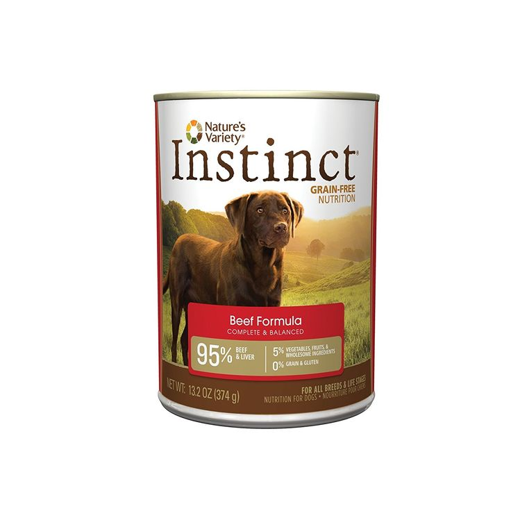Natures variety instinct grainfree beef canned dog food