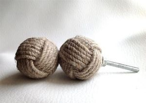 Hand-crafted-Jute-Rope-Nautical-Cabinet-Knot-Knobs-Drawer-Pulls