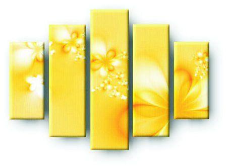 DecoArt24.pl  Pięcioczęściowy obraz na płótnie zatytułowany Bouquet of flowers.  Autorstwa: Liga Lauzuma Cena 299 00 PLN ---------------- #art #artpainting #painting #abstraction #inspiration #interior #interiordesign #decoart24