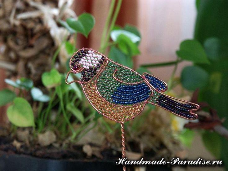 Cute Auf diese Seite erkennen Sie wie kann man Vogel aus Draht und Perlen basteln
