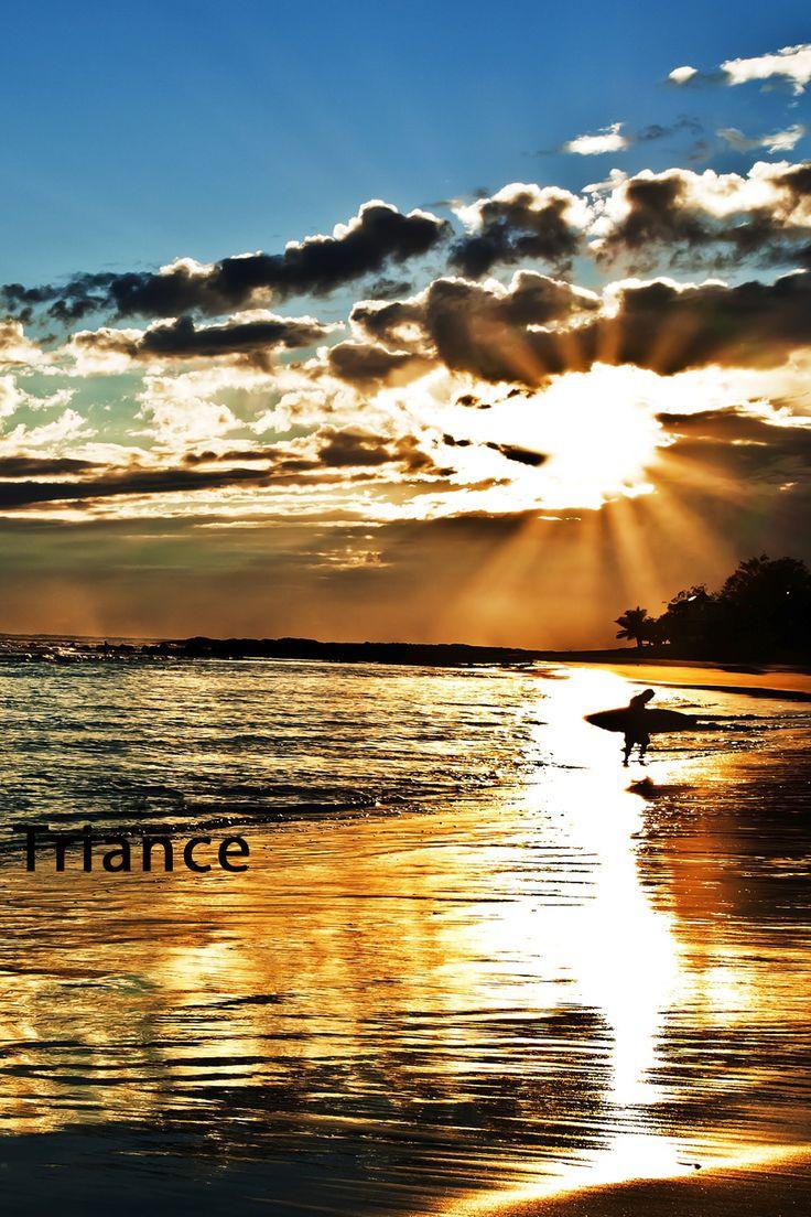 Sunrise Surfer Rainbow Bay.