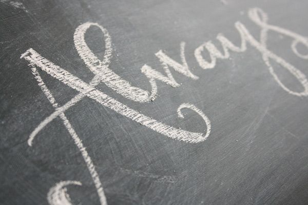 Learn how to write on a chalkboard with 4 different chalk options.