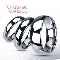 Tungsten Carbide Wedding Ring 2, 3, 4, 5, 6, 7, 8 & 10mm Widths Cobalt Free