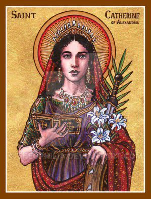 St. Catherine of Alexandria icon by Theophilia on @DeviantArt
