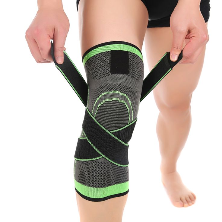 3D weaving  pressurization knee brace  basketball tennis hiking cycling knee support  professional protective sports knee pad * Find out more by clicking the image