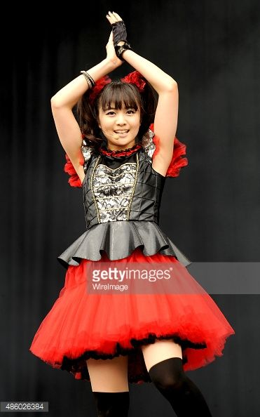 Moametal of Babymetal performs on day 3 of The Leeds Festival at Bramham Park on August 30, 2015 in Leeds, England. (Photo by Shirlaine Forrest/WireImage) Moa Kikuchi