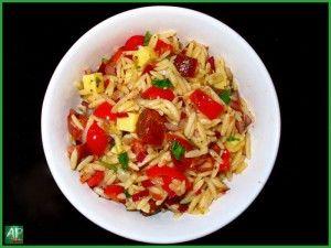 Receita Fácil: Salada de Massa Orzo com Chorizo - Aromas Picantes