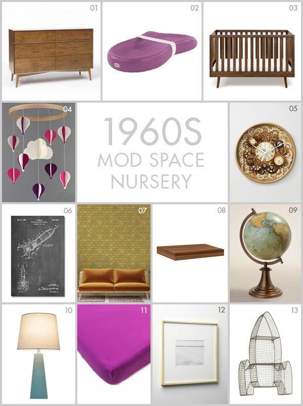 nursery ideas 1960 39 s style mid century modern space themed nursery