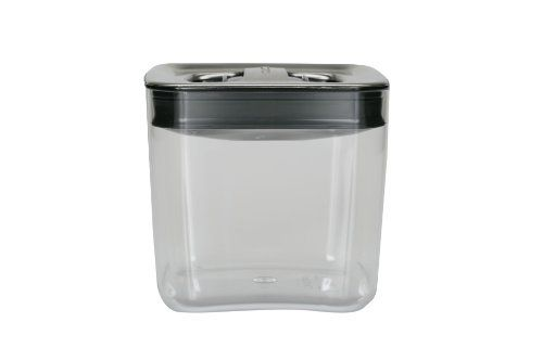 Click Clack Cube 1-1/2-Quart Storage Container with Stainless Steel Lid by Click Clack. $15.99. Crystal clear base for easy viewing; stainless steel lid with black toggles. Stackable to conserve space in your pantry or on the countertop; not intended for freezer or microwave use; hand-wash with warm soapy water. Completely BPA free. Cube measures 5-1/2 by 5-1/2 by 5-1/4 -inch and has a 1-1/2-quart capacity. Airtight: perfect for storing dry foods. For more than twent...