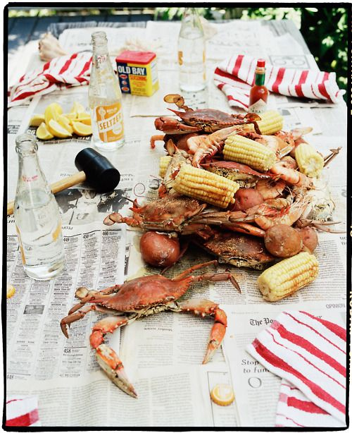 surf side crab boil... summer perfection...perfect for the 4th!