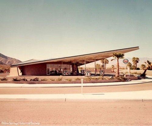 Albert Frey gas station, Desert Modernism in Palm Springs 1965