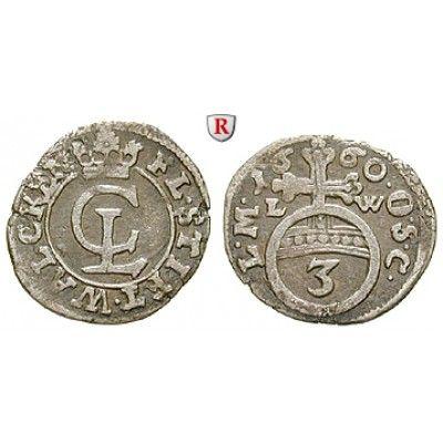 Walkenried, Abtei, Christian Ludwig von Braunschweig, 3 Pfennig 1660, ss+: Christian Ludwig von Braunschweig 1641-1665. 3 Pfennig… #coins