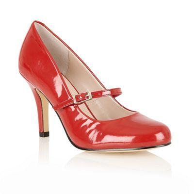 Lotus Red shiny 'Serenoa' mary-jabe court shoes- at Debenhams.com