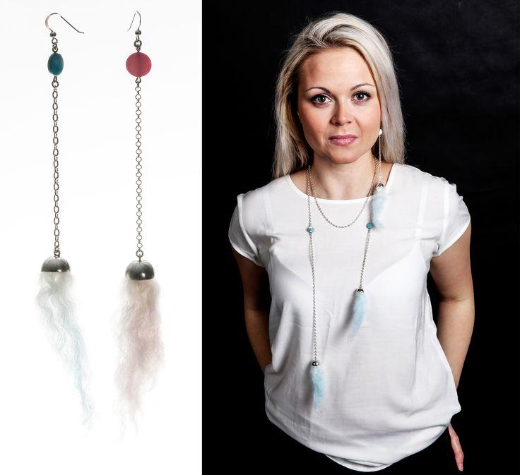 Hattara/ Cotton Candy- Collection. #cute #finnishdesign #mirkalainedesign #fashion #jewellery #scandinaviandesign #cottoncandy #hattara #earrings #bodyjewellery
