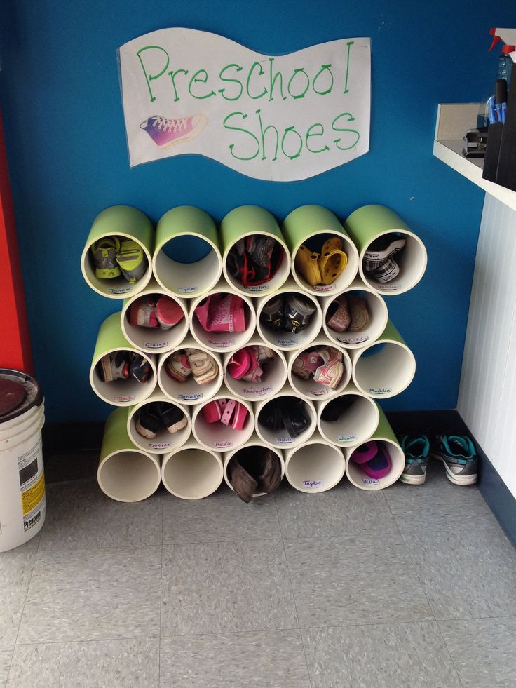 Teachers' Harvest has wide PVC pipes in stock.  With a little work, they'd make great classroom cubbies!