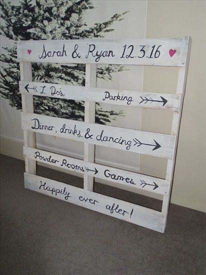 Pallet Wedding Decor Signs