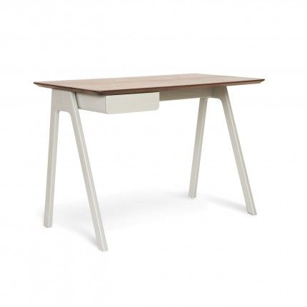 Radius edges and wood couple in this elemental desk. Pencil drawer keeps it tidy and can be assembled to either the left or right side. Avai...