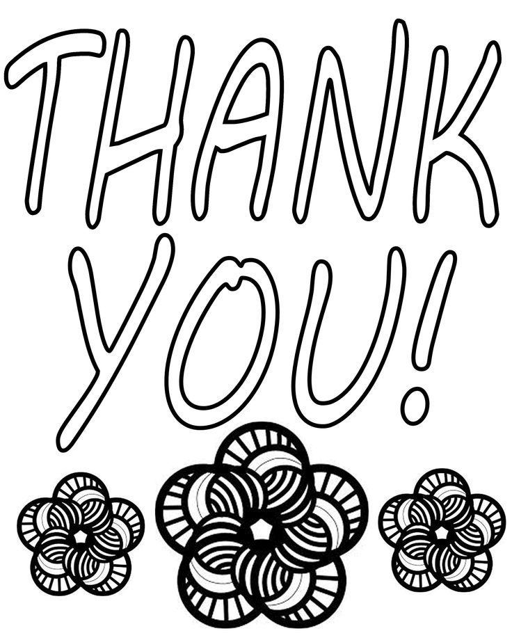 thank you coloring pages 04 Projects to Try Pinterest