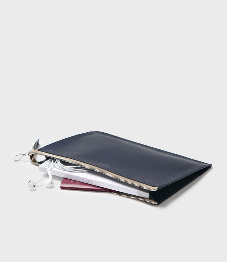 SIMPLE A5 POUCH - NAVY | Campbell Cole