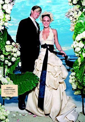 P!nk bride dress