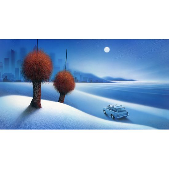 """""""Full Moon Coast"""" limited edition by Warren Salter"""