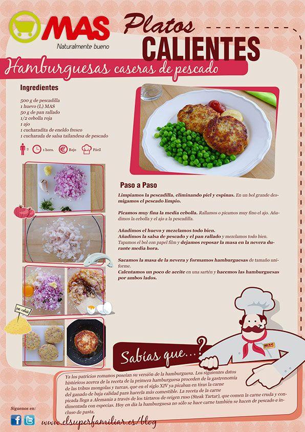 Buenísima esta Hamburguesa de pescado, variación de la clásica burguer de carne... ¡pruébala! #InfoReceta #Receta