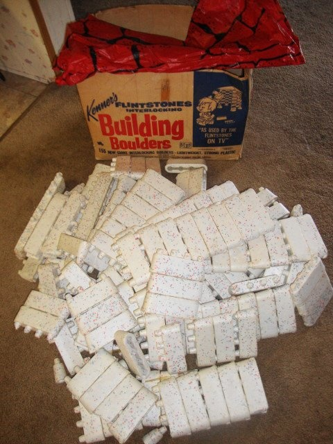1960 39 S Kenner Flintstone Building Blocks Things To