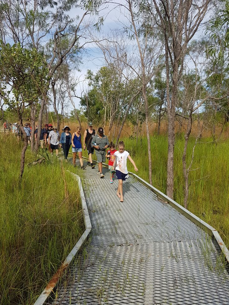 Ranger Savana leads visitors on a #DiscoveryMonth bush walk in the Kakadu savannah woodlands
