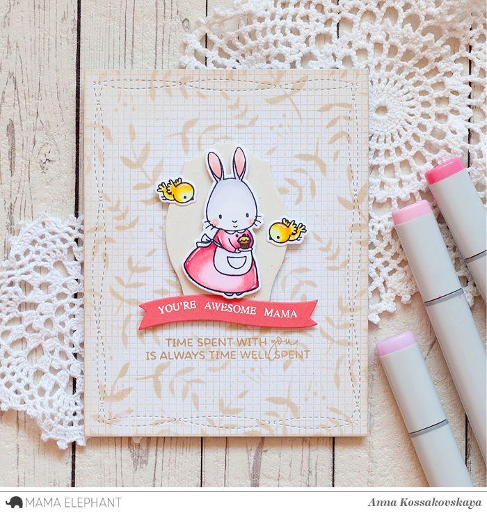 Mama Elephant Stamp Highlight: Tea With Friends @akossakovskaya @mamaelephant #cardmaking #mamaelephant