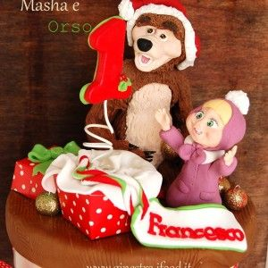 #masha e orso cake topper #Masha and the bear 1 birthday - #christmas