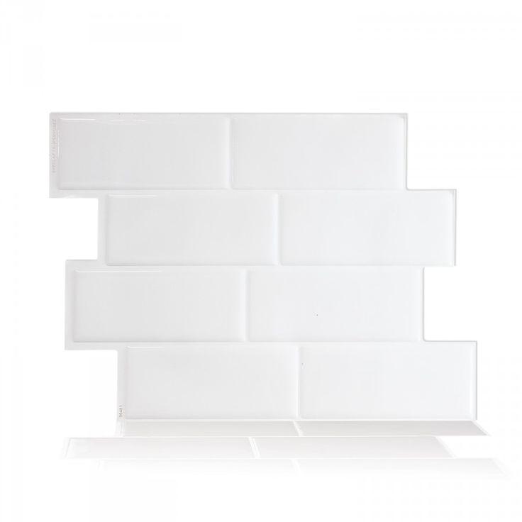 Métro Blanco | Carrelage mural adhésif par Smart Tiles