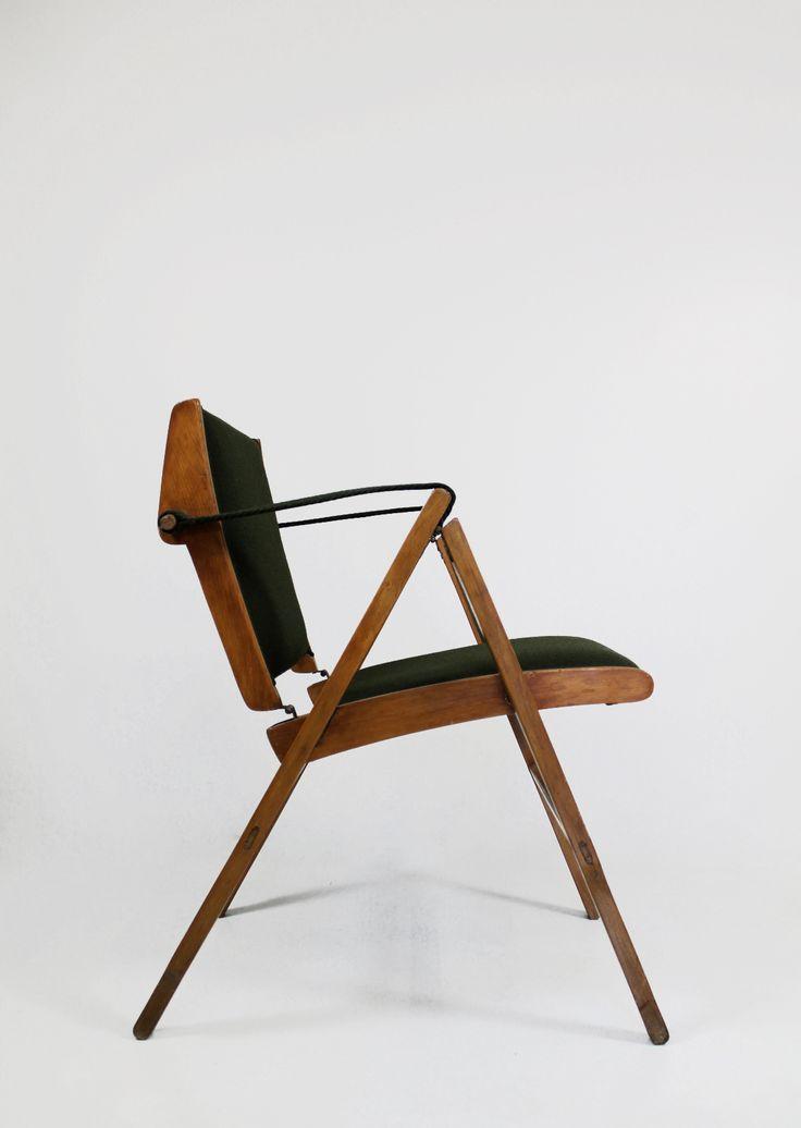 "© Marco Zanuso. ""Bridge"" Folding Armchair by Arflex. 1951. Sold by Jochum Rodgers"