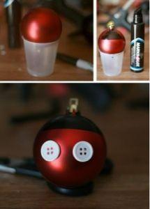 Mickey Christmas Ball Ornament Craft.