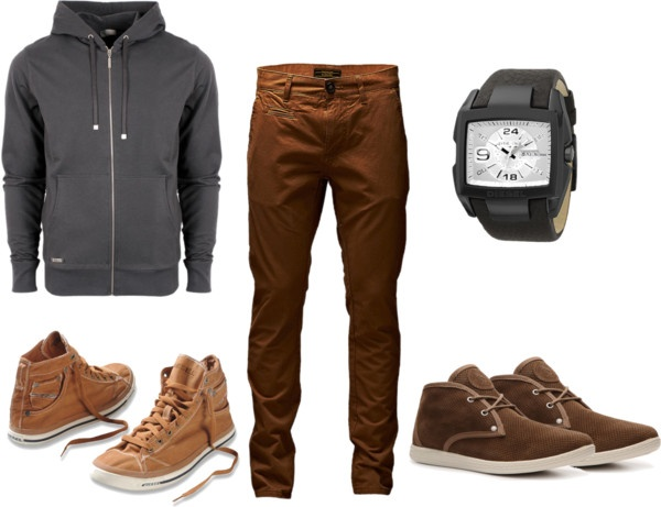 """brown set for men"" by homeyyomey on Polyvore"