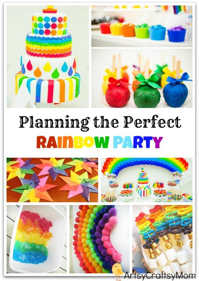 A rainbow themed birthday party is exciting, colorful and pretty much simple to host. - planning, gifts, games, decor, food & return gifts