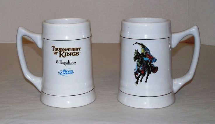 2 Excalibur Hotel & Casino Las Vegas/Bud Light/Tournament Of Kings Souvenir Mugs