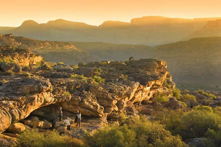 A bit of South African wilderness - Bushmans Kloof Wilderness Reserve, Koro Lodge, rock art at sunset