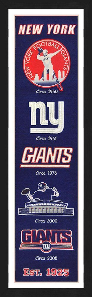 Amazon.com : NY Giants Framed Heritage Banner 13x36 inches : Sports & Outdoors