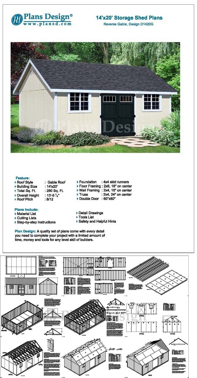How To Build A Storage Shed 14 X 20 Reverse Gable Roof Style Design D1420g 610708152224 Ebay Roof Styles Building A Storage Shed Fibreglass Roof