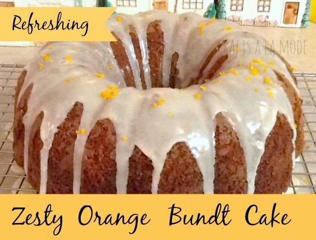 orange bundt cake from scratch with drizzle frosting