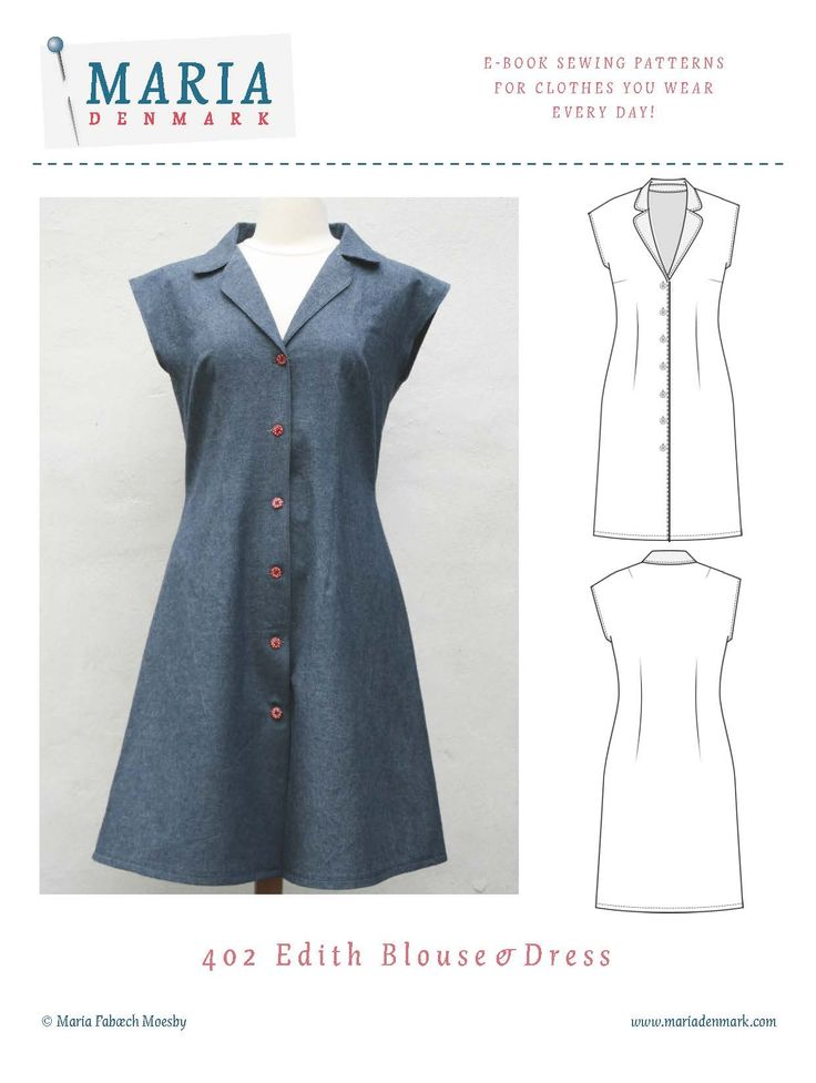 Edith Blouse & Dress Sewing Pattern is a mid 50's-style inspired - but absolutely timeless - blouse or shirtdress, with softly rounded collar and lapels.