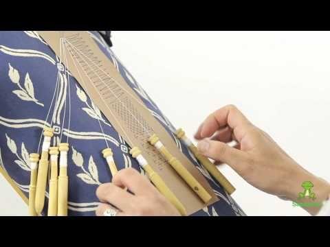 ▶ Cómo hacer el punto entero o punto de lienzo - Encaje de bolillos - YouTube