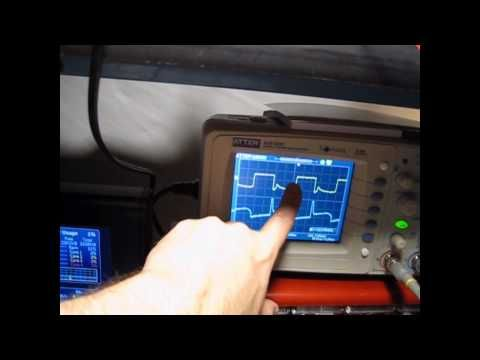 My 3rd Bedini Motor Part 3 with an Oscilloscope monitoring Trigger and Drive Signals - YouTube