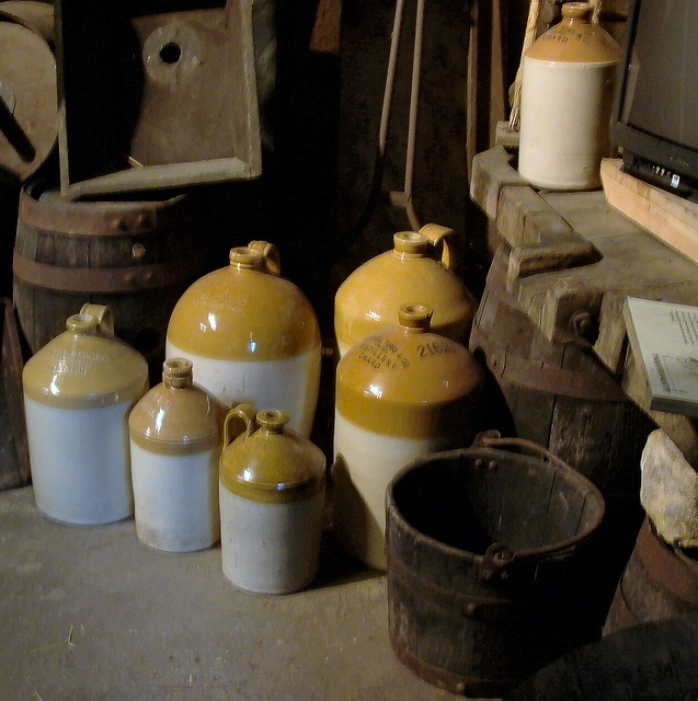 Props: Vintage cider bottles