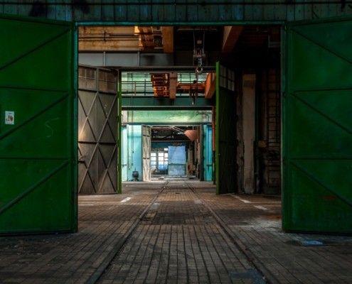 Groene deuren