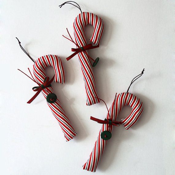 Fabric candy canes paninohome